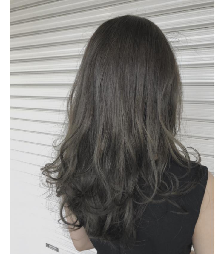 モテ艶髪◎ミントグレージュカラー
