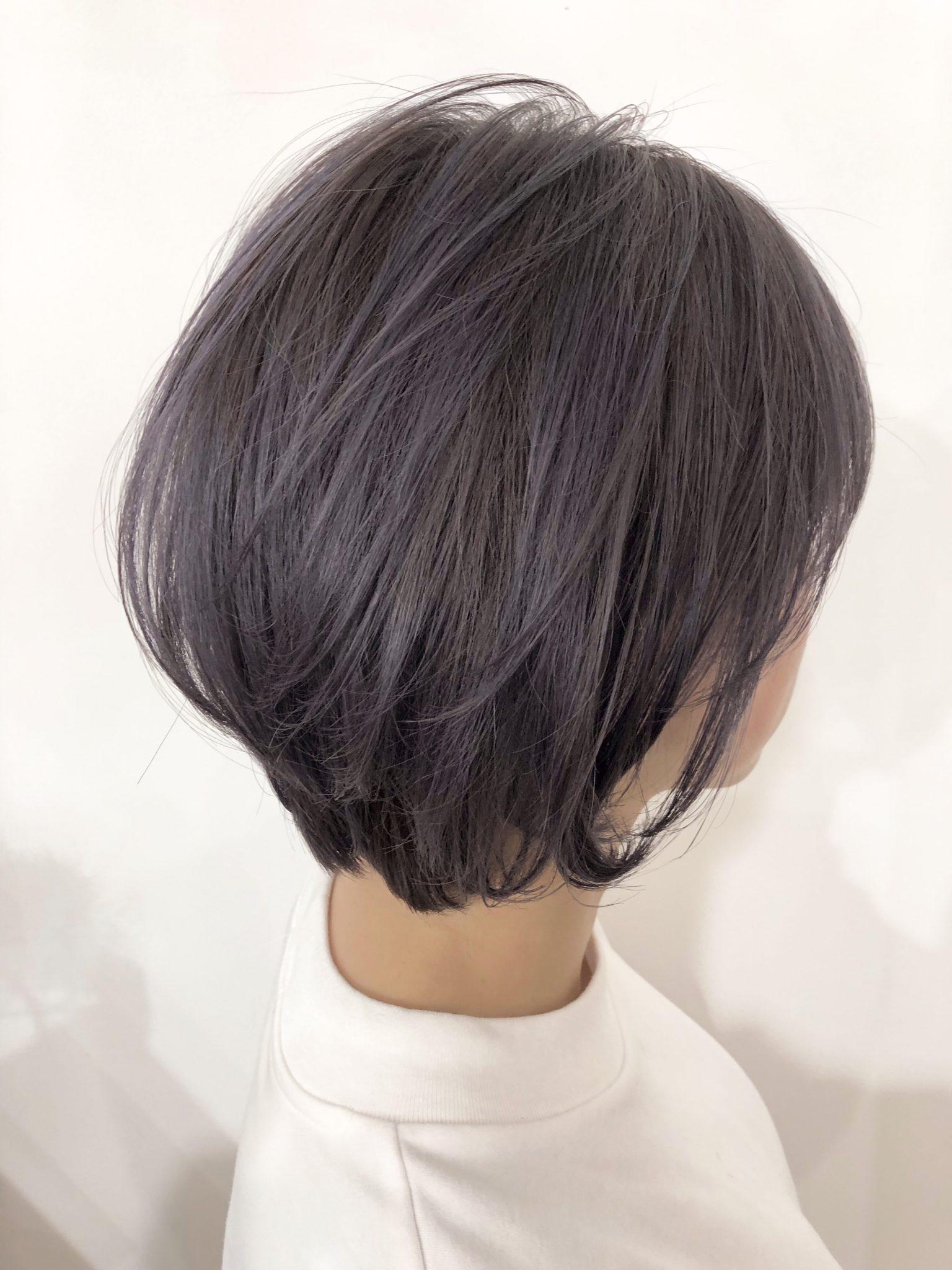 ★☆ダブルカラー☆★シルバーパープルで大人可愛いショートヘア